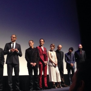 GRAND BUDAPEST HOTEL premiere at Alice Tully Hall with cast