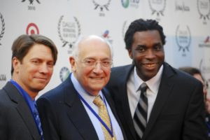 AFI Dallas Co-Founder, Liener Temerlin, flanked by Director of PR, John Wildman, and Artistic Director James Faust (Photo by John Strange)