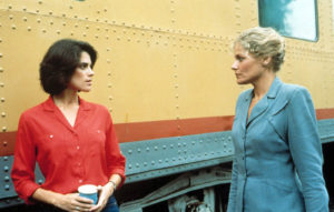 Patricia Charbonneau and Helen Shaver in DESERT HEARTS