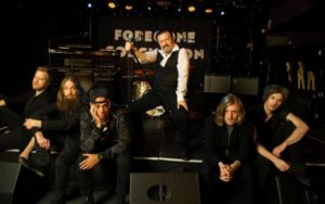 David Brent with his band, Foregone Conclusion