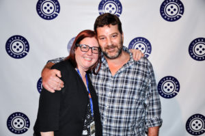 Oxford Film Festival Executive Director Melanie Addington with last year's Lisa Blount Memorial Acting Award honoree, Robert Longstreet (Photo by Bill Dabney)