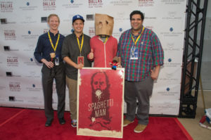 The SPAGHETTI MAN team at the Dallas International Film Festival - what red carpets are designed for. (Photo by Selig)