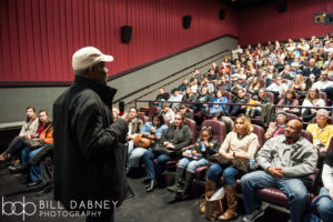 Danny Glover introduced I AM NOT YOUR NEGRO at the Oxford Film Festival (Photo by Bill Dabney)