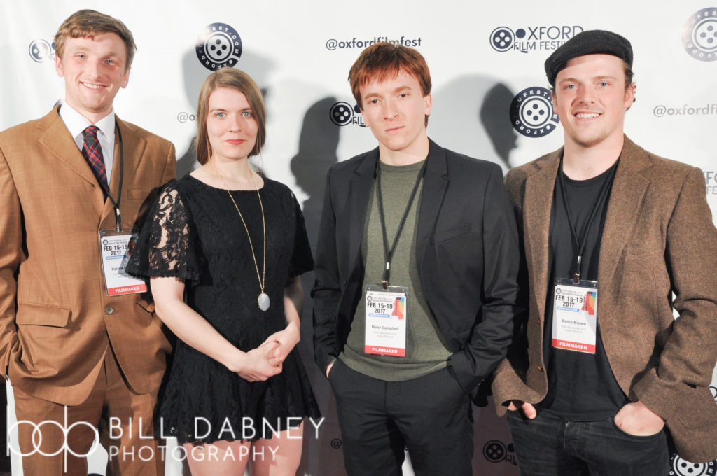 These are the KILLER SPACEMEN FROM OUTER PLANET X: Patrick Molloy, Sarah Kennedy, director Peter Campbell, and Ranin Brown (Photo by Harrison Hadaway)