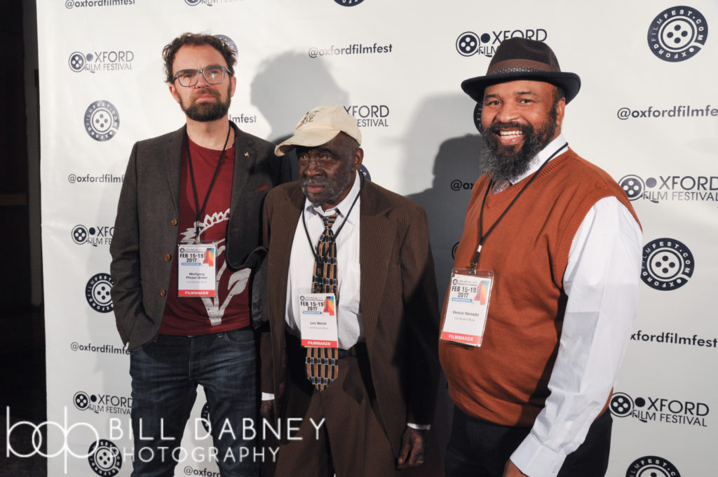 "LATE BLOSSOM BLUES filmmaker Wolfgang Pfoser-Almer with the film's subjects, Leo ""Bud"" Welch, and Vencie Varnado (Photo by Harrison Hadaway)"