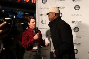 Interviewing Danny Glover on the red carpet at the Oxford Film Festival (Photo by Daniel Lee Perea)