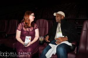 Oxford Film Festival Executive Director Melanie Addington with Danny Glover (Photo by Bill Dabney)