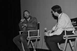 Mark Webber talks about his film, THE EVER AFTER at the Tallgrass Film Festival (Photo by Mike Binder)