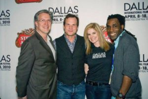 (Left to Right) DIFF Co-Founder Michael Cain, Bill Paxton, Artistic Director James Faust, and 2010 DIFF Executive Director Tanya Foster at the fest that year