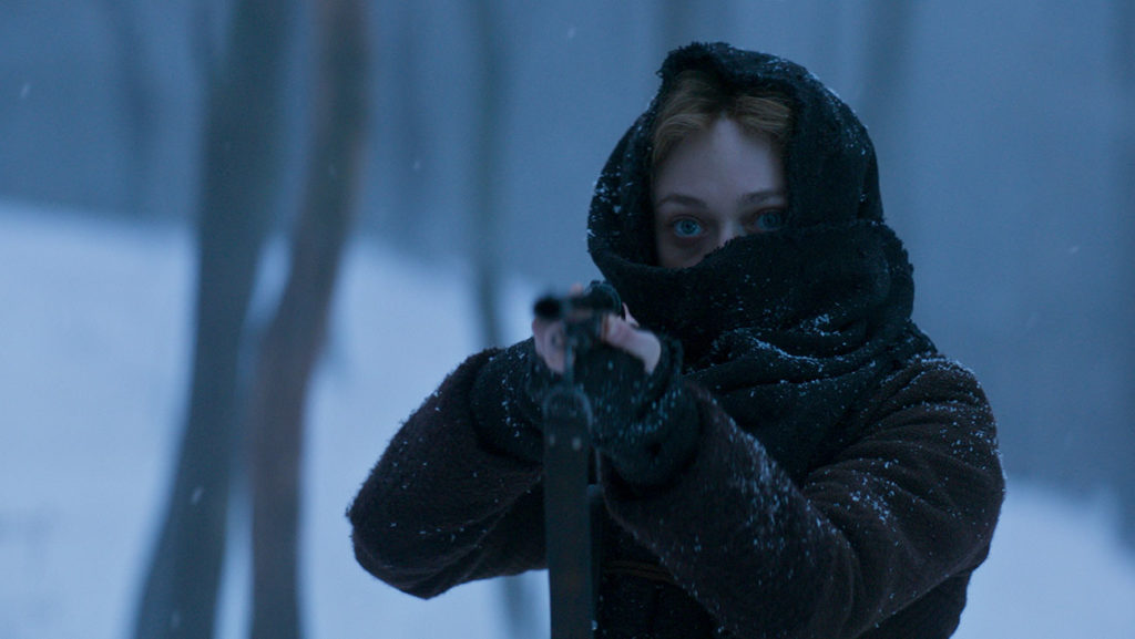 The eyes have it. Dakota Fanning in BRIMSTONE.
