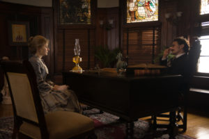 Allie Gallerani and James Franco in THE INSTIUTE (Photo courtesy of Momentum Pictures)