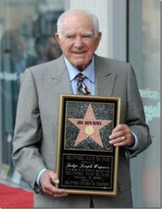 Wapner with his star from the Hollywood Walk of Fame