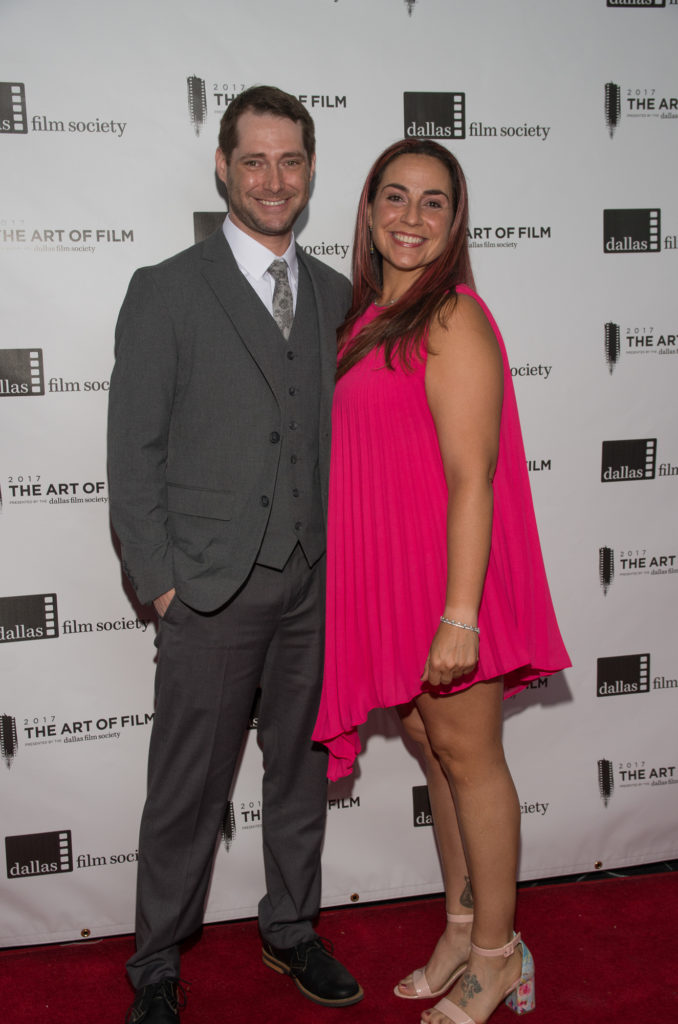 Dan McGowan and Rebecca Flores (Art of Film Host Committee) (Photo by Steve Duffy)