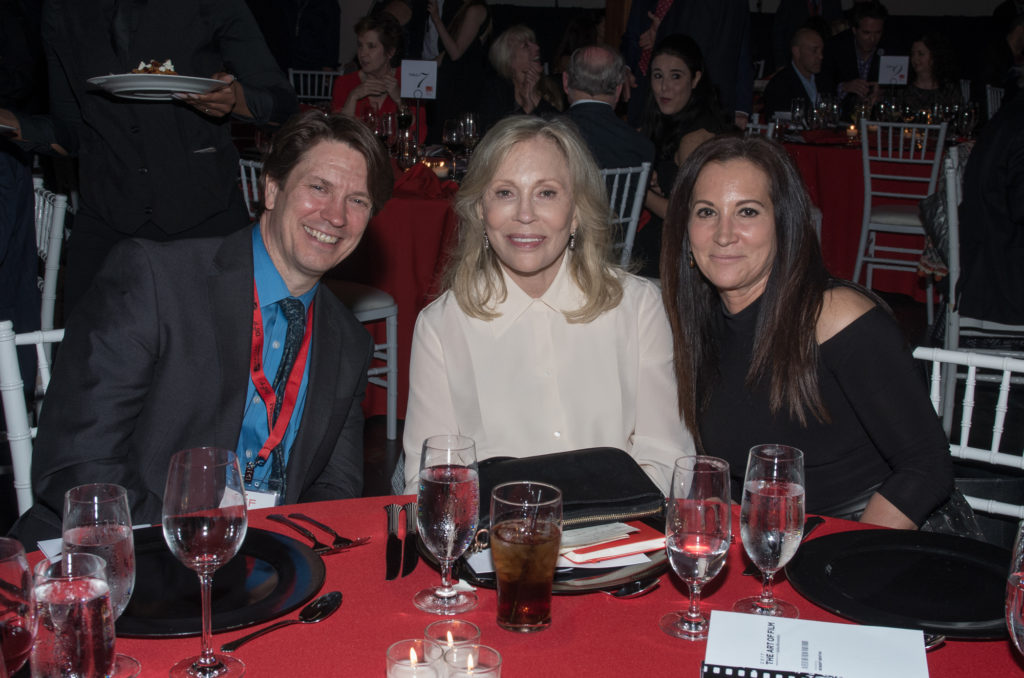 John Wildman, Faye Dunaway, Laurie Duncan at the Art of Film event (Photo by John Strange)