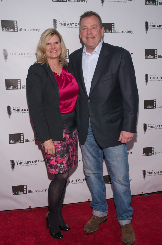Mary Hatcher and Bradley Hatcher, Art of Film Host Committee (Photo by Steve Duffy)