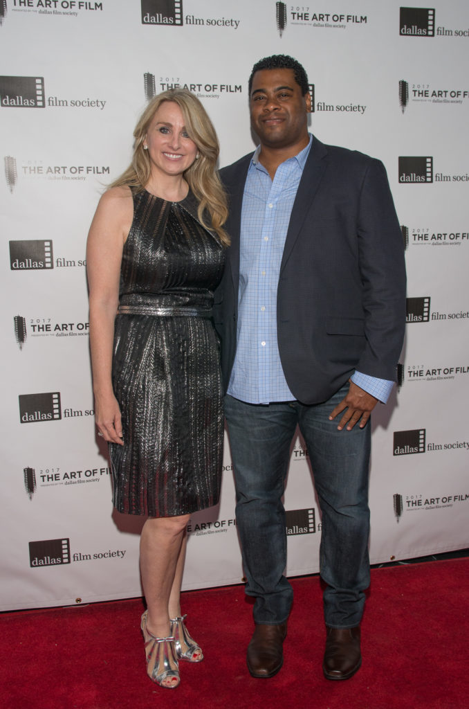 Sheri Deterling (Art of Film Host Committee) and Edwin Harris (Photo by Steve Duffy)