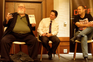 DIFF's 1967 Panel -Joe Leydon, John Wildman, Chris Vognar (Photo by Mike Foster)