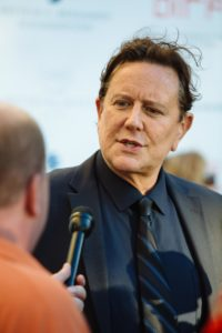 Judge Reinhold being interviewed on the red carpet (DADDY'S DYIN... WHO'S GOT THE WILL?) (Photo by Lindsay Jones)