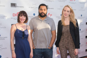 The Narrative Features Jury: Meredith Alloway (Filmmaker Magazine), Tommy Oliver (THE PERFECT GUY), Emily Carmichael (Screenwriter - PACIFIC RIM 2) (Photo by John R. Strange/Selig Polyscope Company)