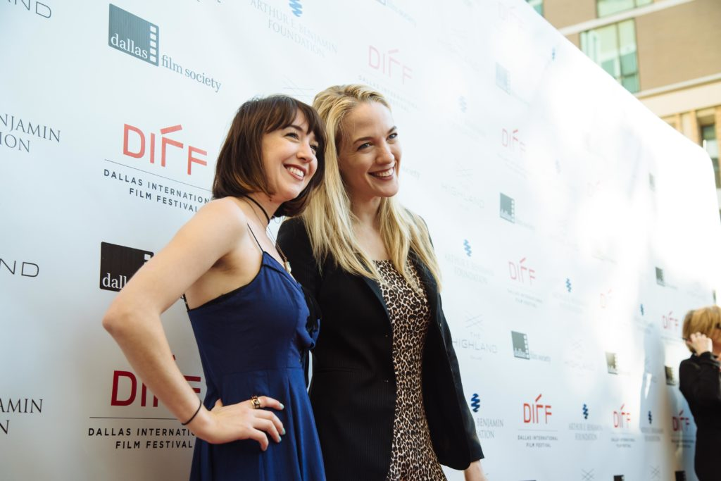Narrative Jurors Meredith Alloway and Emily Carmichael pose for photos (Photo by Lindsay Jones)