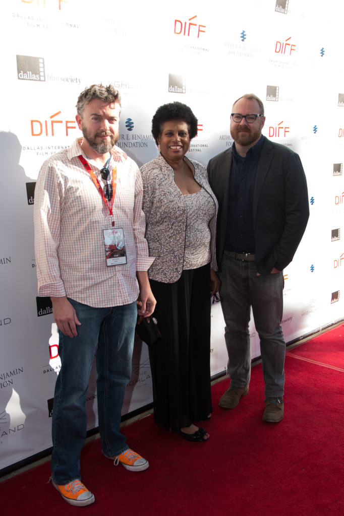 The Texas Competition Jurors: Rob Hunter (Film School Rejects), Linda Eaddy (Denton Black Film Festival), Keith Maitland (TOWER) (Photo by John R. Strange/Selig Polyscope Company)