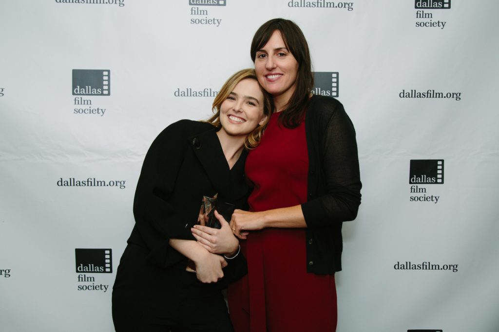 This year's Dallas Shining Star honoree, Zoey Deutch, with her BEFORE I FALL director, Ry Russo Young (Photo by Lindsay Jones)