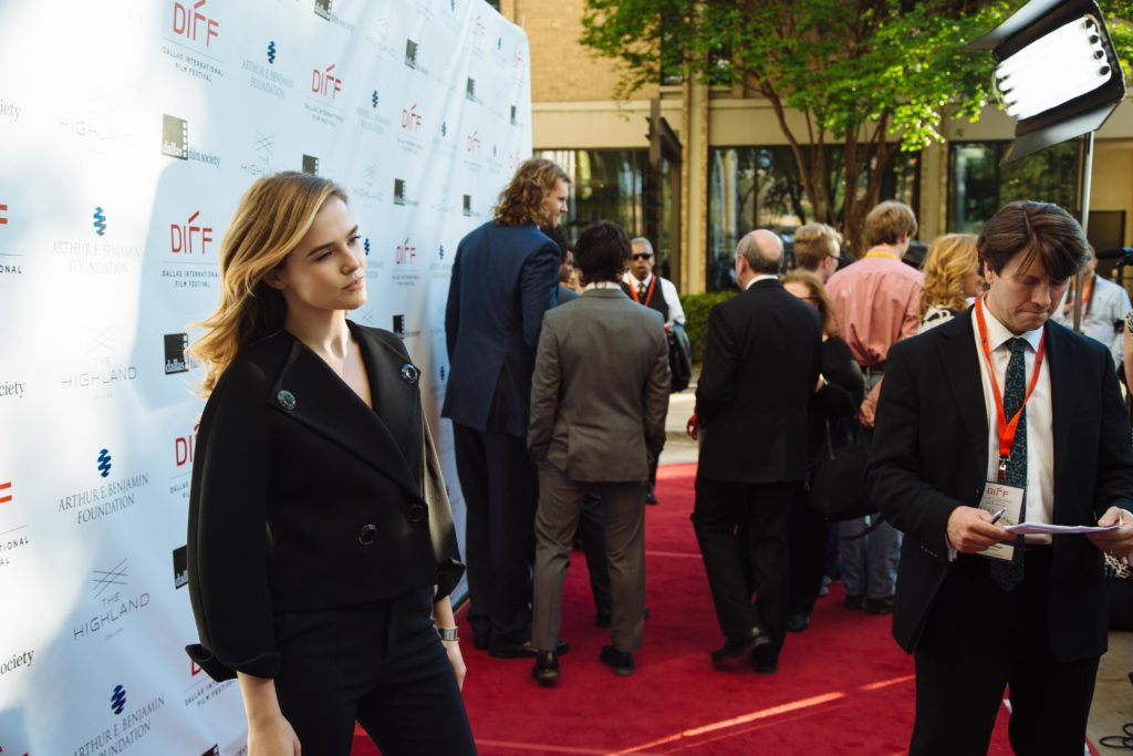Dallas Shining Star honoree Zoey Deutch being photographed (Photo by Lindsay Jones)