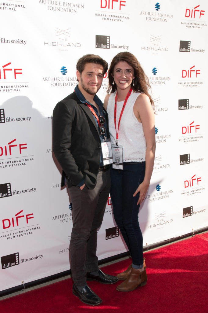 Gabe Lipton (Director/Screenwriter), Tiffany Navarro (Cast) of SMOKE (Baylor University) (Photo by John R. Strange/Selig Polyscope Company)