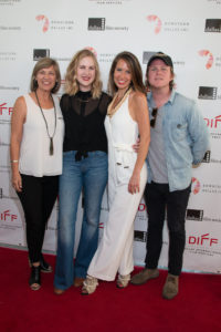 Camille Scioli-McNamara (Associate Producer), Carlyn Hudson (Director/Co-Screenwriter), Mallory Culbert (Co-Screenwriter/Talent), Ben Fuqua (Producer) of THE BIG SPOON  (Photo by Cynthia Jordan/Selig Polyscope Company)