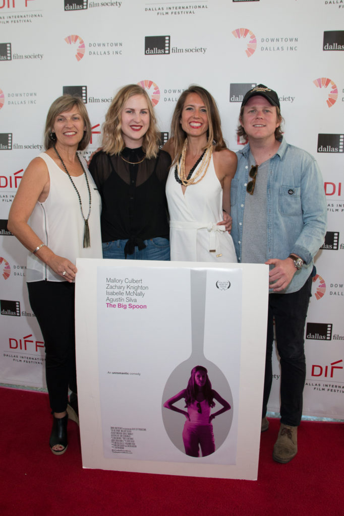 Camille Scioli-McNamara (Associate Producer), Carlyn Hudson (Director / Co-Screenwriter), Mallory Culbert (Co-Screenwriter / Talent), Ben Fuqua (Producer) of THE BIG SPOON