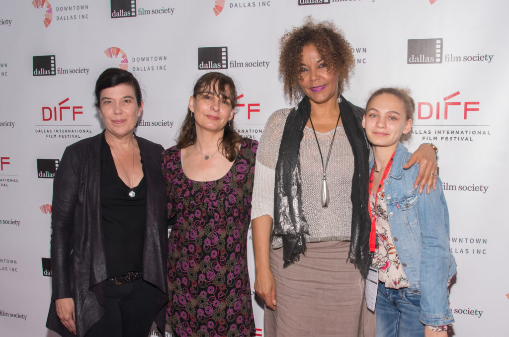 The CITY OF JOY team: Susan Celia Swan, director Madeleine Gavin, the film's subject, Christine Schuler Deschryver, and Sophie Gavin (Photo by Steve Duffy/Selig Polyscope Company)