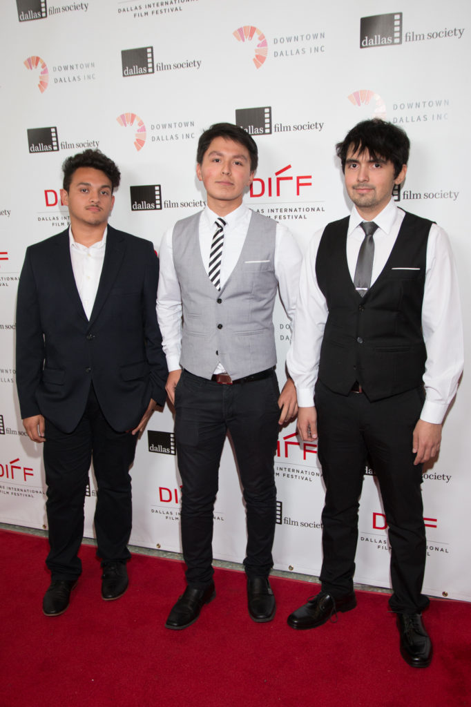 Alex Mendoza (Producer/Cast), Rene Gomez (Director), Jeremy Gomez (Lead Actor/Producer) FAST HANDS (Dubiski Career High School) (Photo by John R. Strange/Selig Polyscope Company)