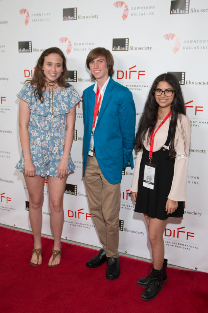 Bayley Bryant (Screenwriter), James Hubbard (Director), andNaomi Mills (Screenwriter/Assistant Director) of EIGHT O'CLOCK (Allen High School) (Photo by John R. Strange:Selig Polyscope Company)