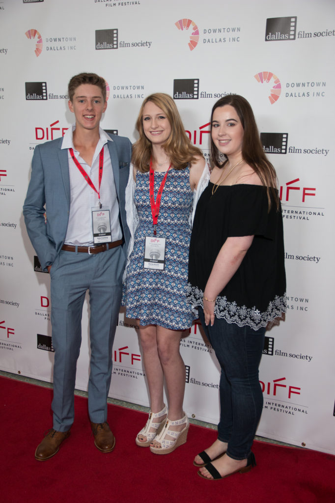 Blake Eisenberg (Director), Rachel Bloom (Director), and Claire Williams (Screenwriter) of THE SURPRISE (Parish Episcopal School) (Photo by John R. Strange/Selig Polyscope Company)