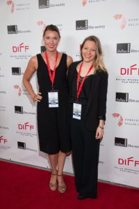 Some talented grown ups showing the kids how you do the red carpet right: Chloe Lenihan (Screenwriter), and Ugla Hauksdottir (Director) of HOW FAR SHE WENT (Photo by John R. Strange/Selig Polyscope Company)