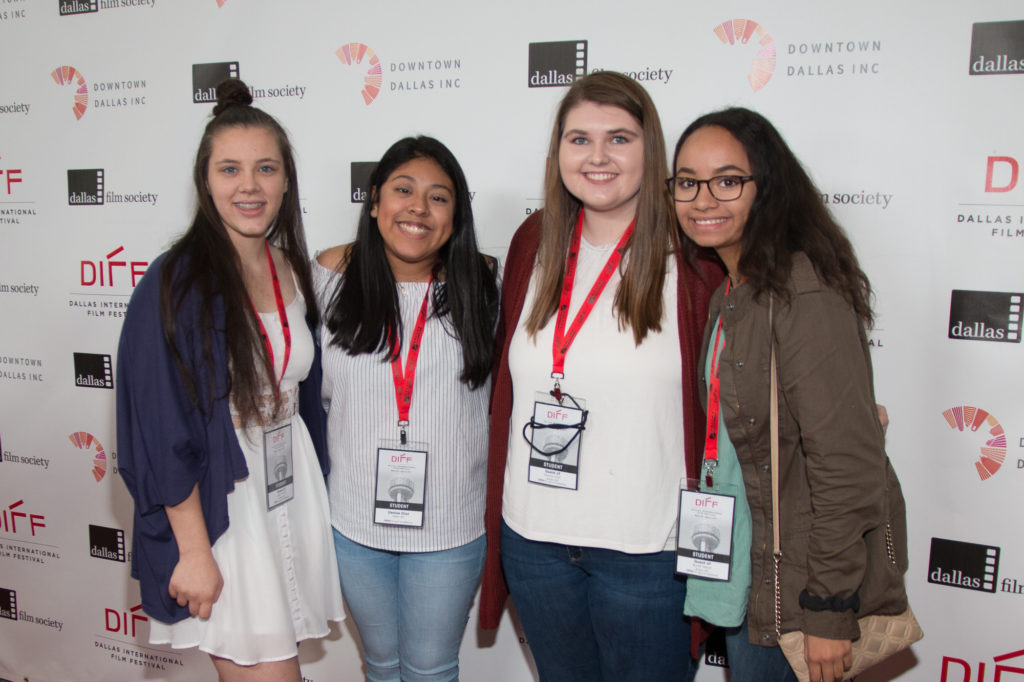 Emily Goodman (Producer), Denise Diaz (Director), Madison Plummer (Editor), Harley Hendrick (Screenwriter) of PERCEPTION (Allen High School) (PERCEPTION) (Photo by John R. Strange:Selig Polyscope Company)