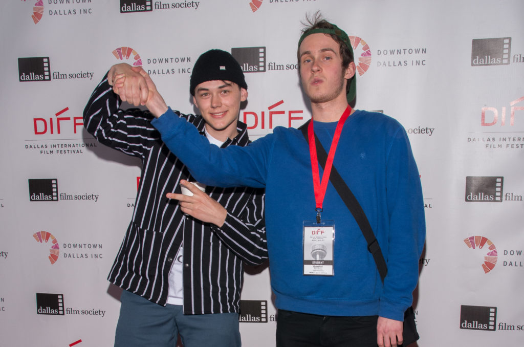 Jack Kraus and Alex Gilmour of 06132000 having fun on the red carpet. (Photo by Steve Duffy/Selig Polyscope Company)
