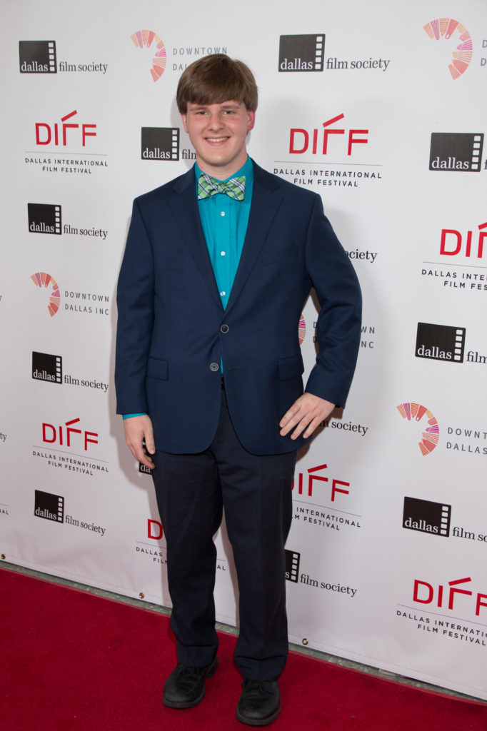 Nick Homsher, he director of MENTAL, who also rocked a bow tie on the carpet. (Booker T. Washington High School for Performing and Visual Arts) (Photo by John R. Strange/Selig Polyscope Company)