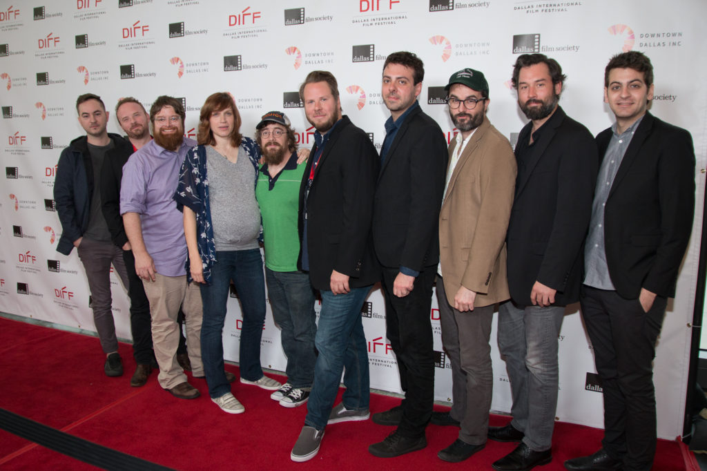 he MUSTANG ISLAND team: Ben Prosser (Music), Michael Mobley (Producer), John Merriman, Lee Eddy, Macon Blair, Craig Elrod (Director/ Co-Screenwriter), Nathan Smith (DP/ Co-Screenwriter), Jason Newman, Michael Bartnett (Co-Producer), and Evan Smith (Editor) (Photo by John R. Strange/Selig Polyscope Company)