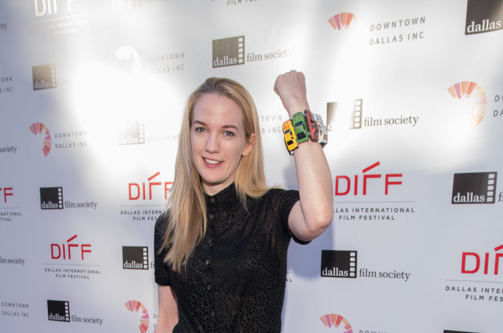 Emily Carmichael shows off her very cool car bracelet (Photo by Steve Duffy/Selig Polyscope Company)