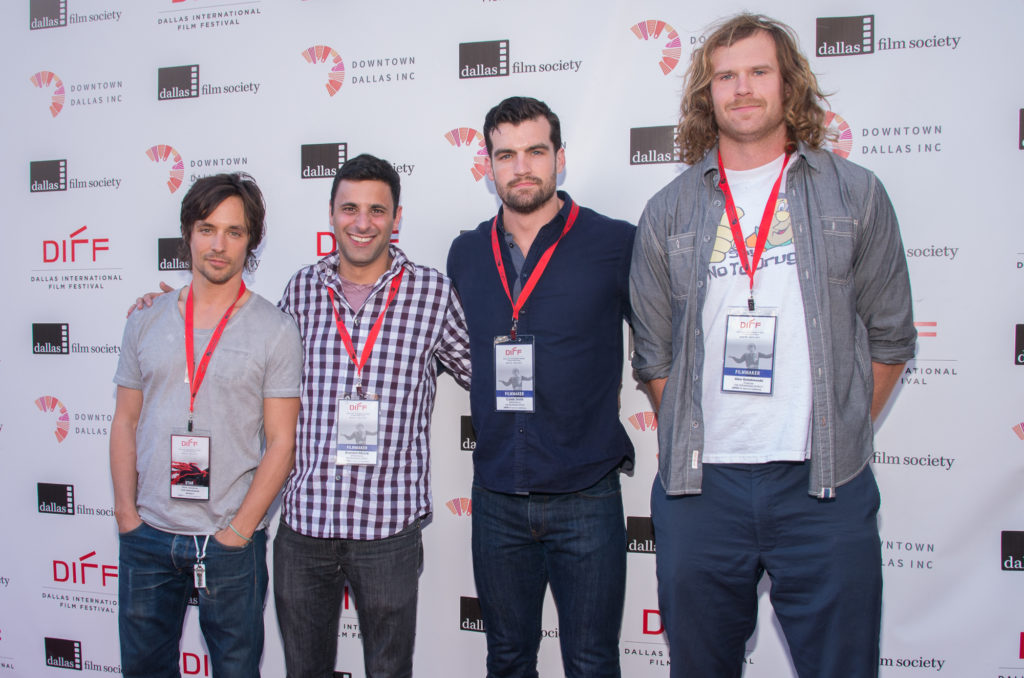 THE SPEARHEAD EFFECT team: Rane Jameson, Brandon Moore (Director/Screenwriter), Caleb Smith (Director/Screenwriter), and Alex Golubiewski (Producer) (Photo by Steve Duffy/Selig Polyscope Company).