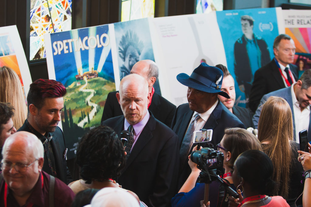 Glenn Morshower being interviewed (Photo by Krystal Dawn Gorrell)