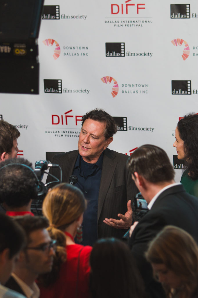 Judge Reinhold being interviewed (Photo by Krystal Dawn Gorrell)