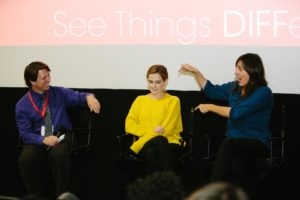 DIFF 2017 Q&A w:Zoey Deutch and Ry Russo Young (BEFORE I FALL) #2 4.8.17 (Photo y Lindsay Jones)