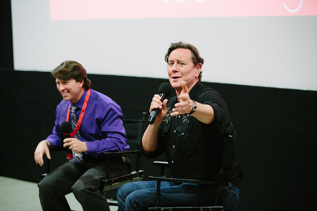 Judge Reinhold having fun at the Q&A (Photo by Precious Washington)