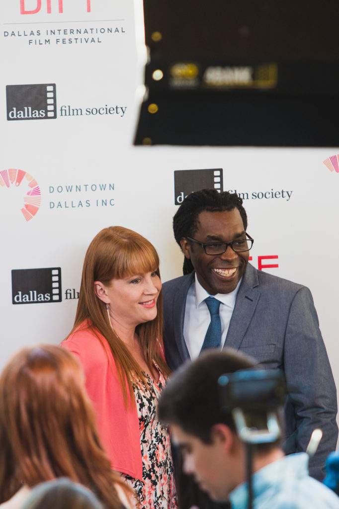 DIFF Artistic Director James Faust with his wife Jenn Roberts Faust (Photo by Krystal Dawn Gorrell)