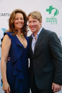 Adventurer Doug Stoup with Alexandra Woodward (Photo by Lindsay Jones)