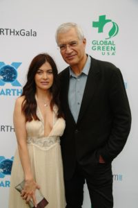 Leilani Münter, race car driver and subject of the film, and Louie Psihoyos, director of RACING EXTINCTION) (Photo by Lindsay Jones)