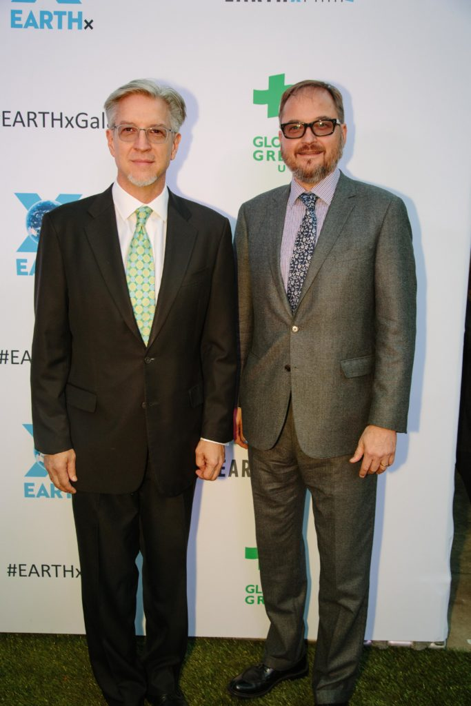 Michael Cain (EARTHxFilm's Founder) and Richard Berge (AN INCONVENIENT SEQUEL) (Photo by Lindsay Jones)