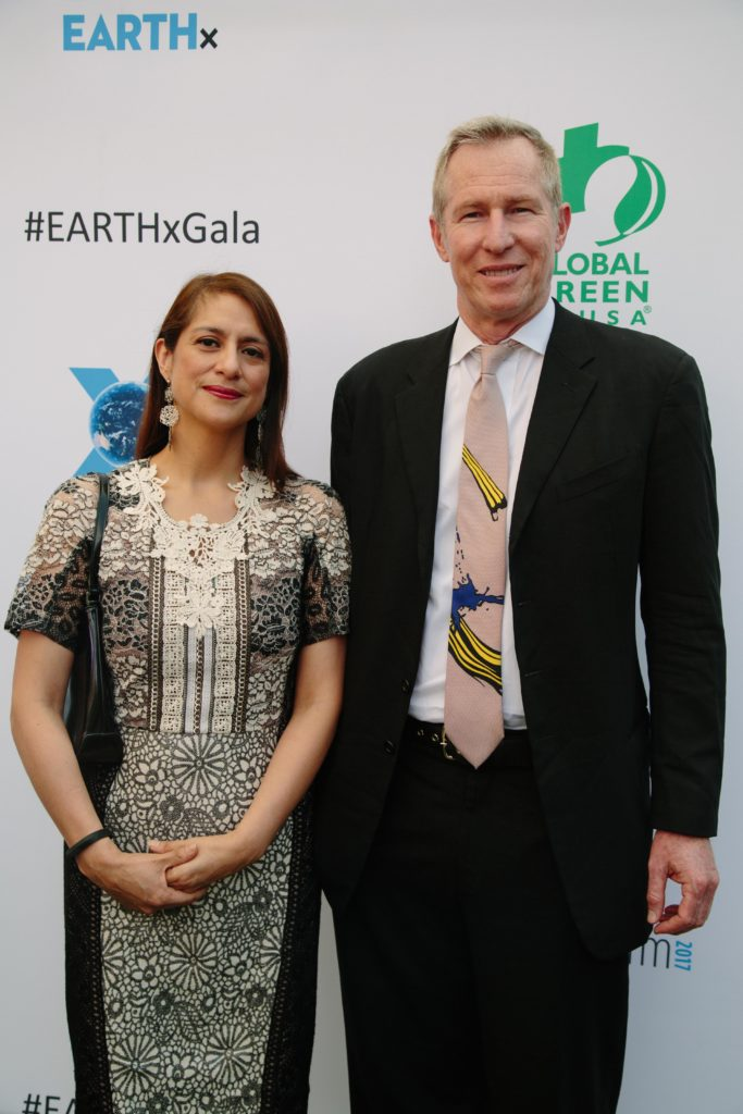 Natalia Vega-Berry (The Global Brain Foundation), Michael Tracy (Photo by Lindsay Jones)